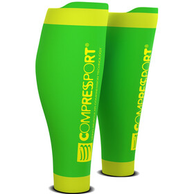 Compressport R2V2 Manchons de compression pour mollets, fluo green